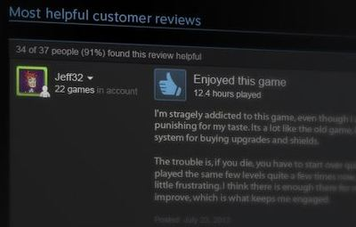 Steam reviews