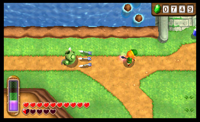 The Legend of Zelda: A Link Between Worlds Screenshot - Fighting enemy