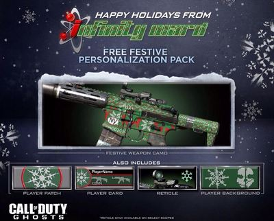 Call of Duty Ghosts Festive Personalization Pack