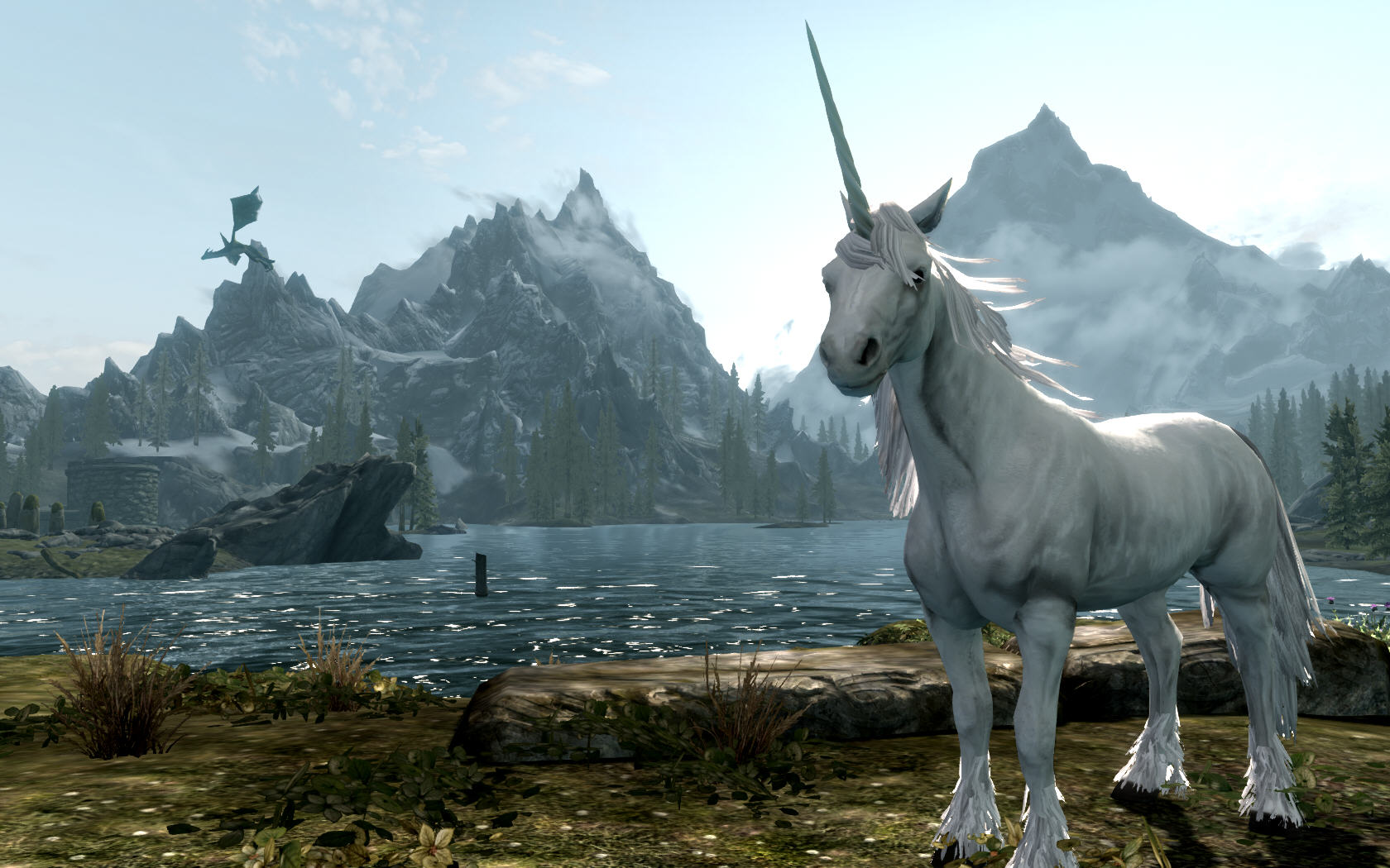 Skyrim and a Unicorn