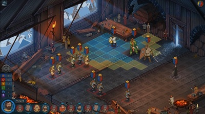 The Banner Saga Screenshot - the banner saga, combat screen