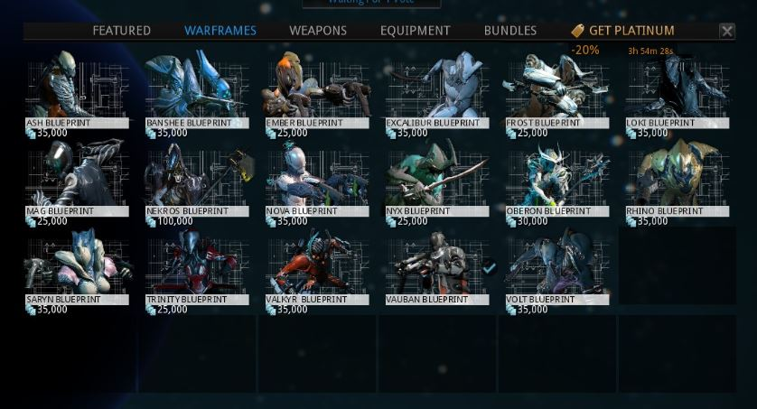 Warframe Blueprints