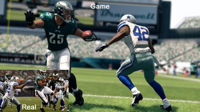 real game comparison madden nfl 25