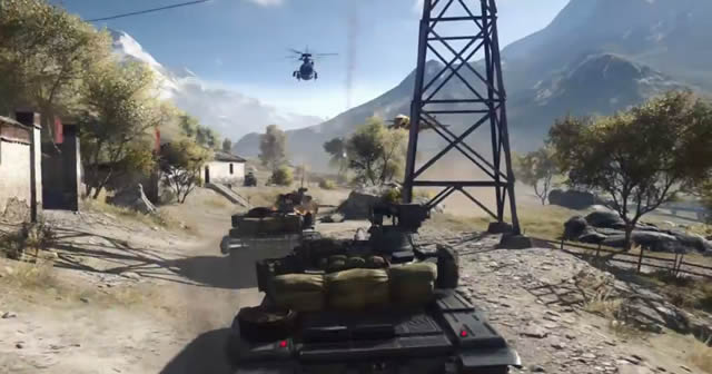 BF4 vehicle action