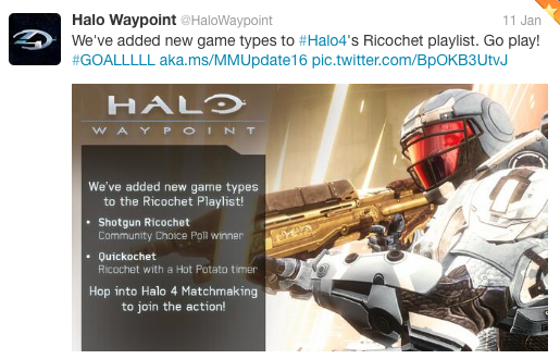 Halo Waypoint playlist tweet