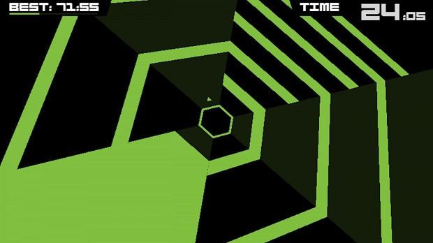 Super Hexagon - iOS - 1