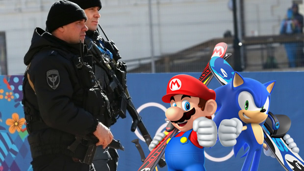 sochi olympics security mario and sonic
