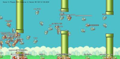Flappy Bird Screenshot - FlapMMO