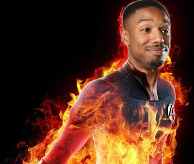 michael b jordan human torch fantastic four