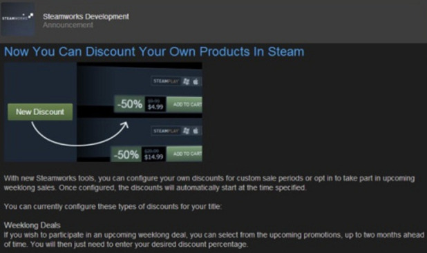 Steam discounts