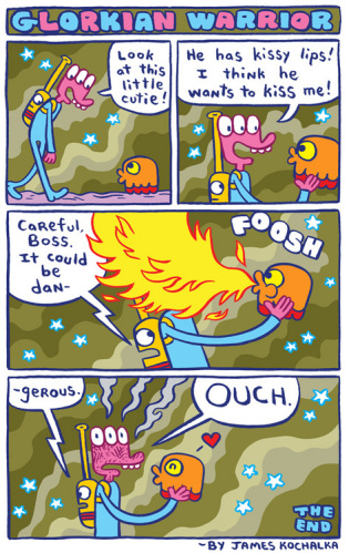 Glorkian Warrior comic strip