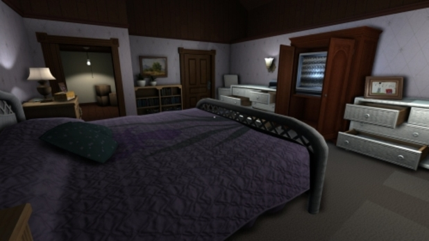 Gone Home empty room