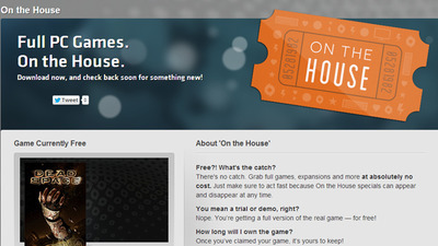 "You can get Dead Space for free at Origin as EA debuts ""On The House"" program"