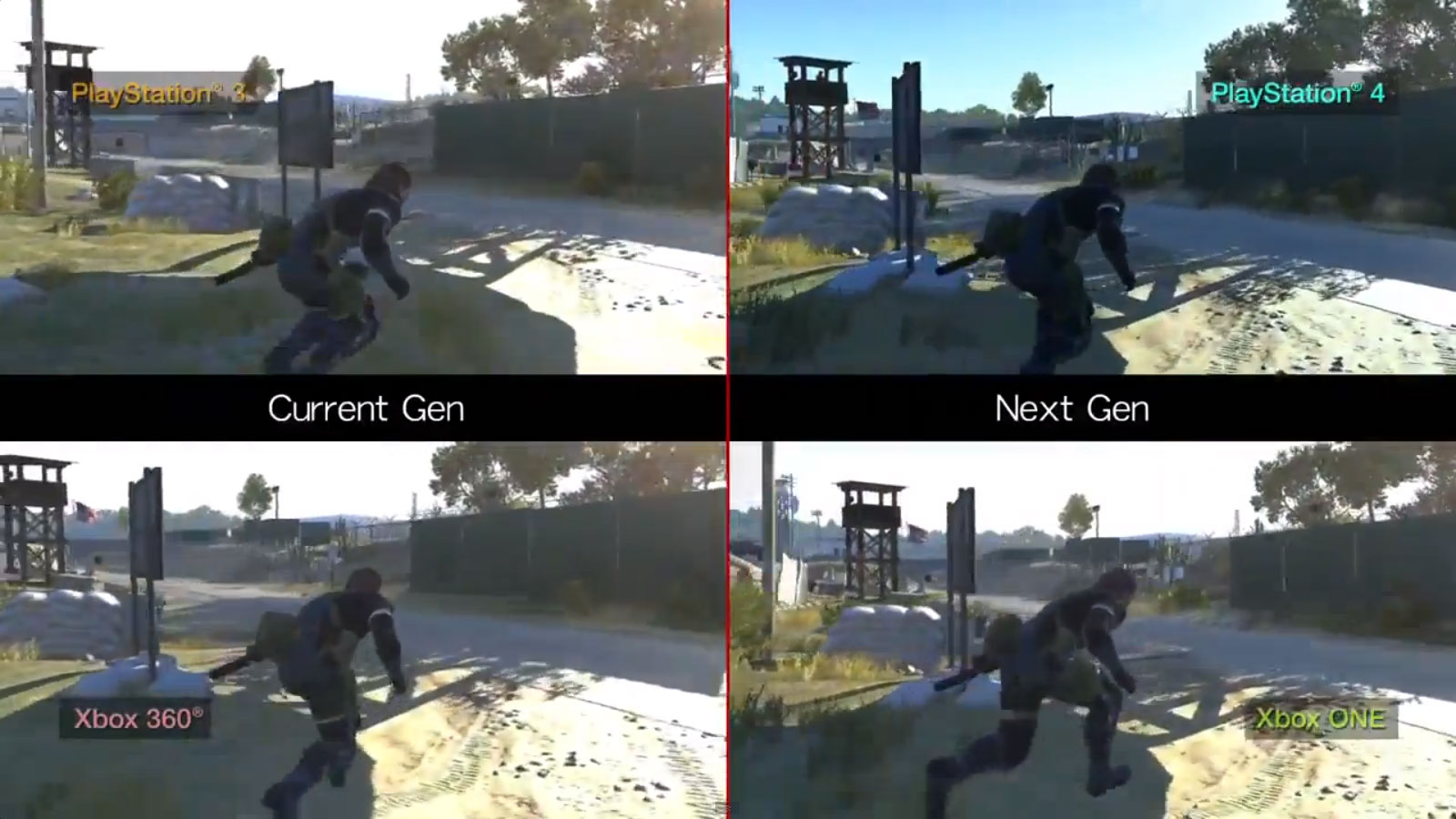 Metal Gear Solid Ground Zeroes graphics comparison