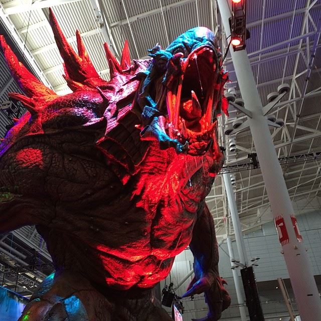 Evolve PAX East booth statue