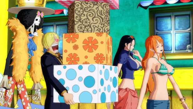 One Piece: Unlimited World Red Screenshot - Nami big boobs