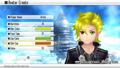 Sword Art Online: Hollow Fragment Screenshot - Character Customization
