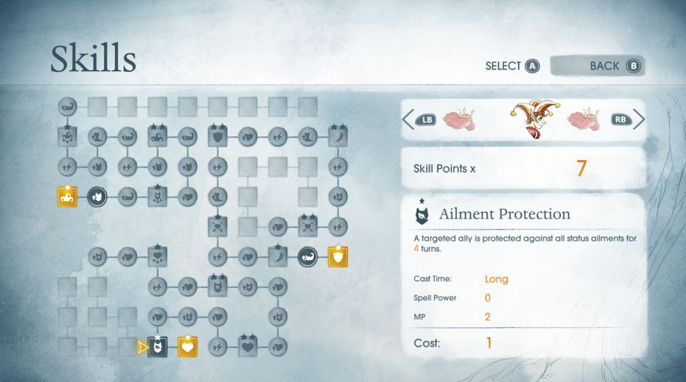 Child of Light Skills