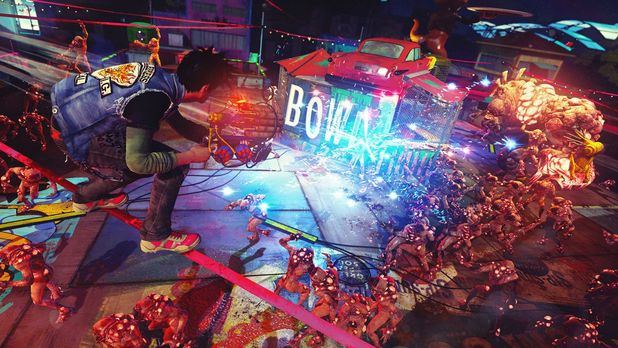 Sunset Overdrive Screenshot - Killing hordes