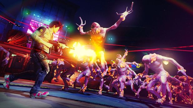 Sunset Overdrive Screenshot - Shotgun to the gut