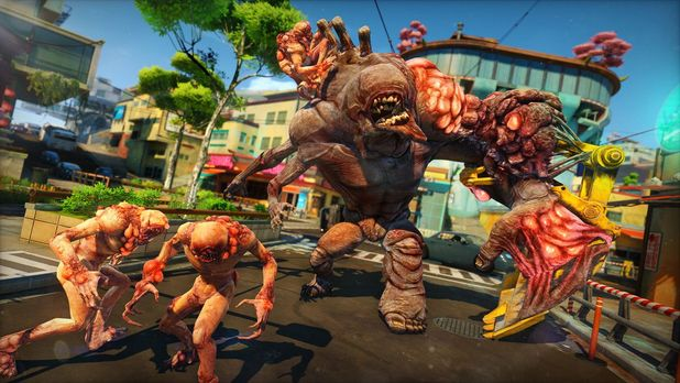 Sunset Overdrive Screenshot - Group of monsters