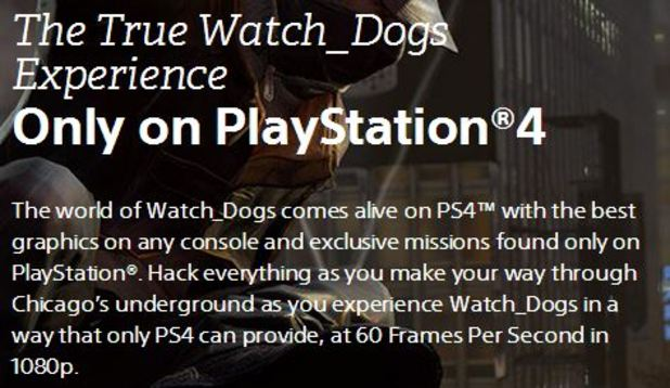 Watch Dogs on PlayStation 4