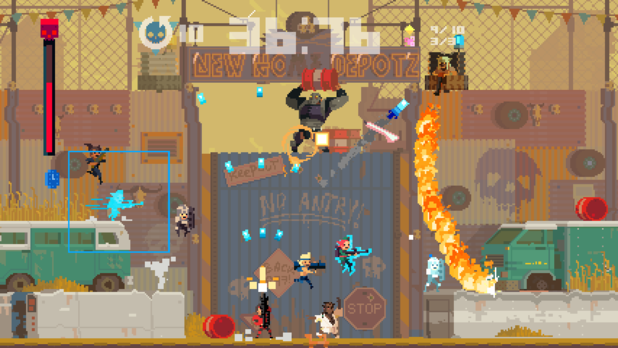 Super Time Force Screenshot - Rewinding Time
