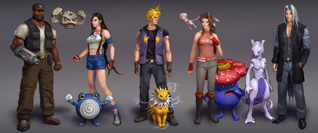 Pokemon meets Final Fantasy 7