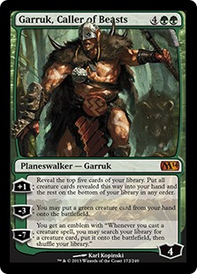 Garruk, the mascot for Magic the Gathering's 2015 Core Set, gets unveiled this Monday