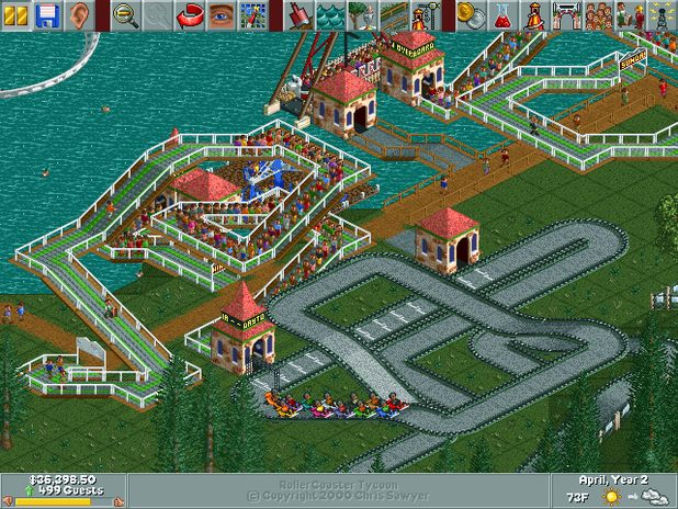 Roller Coaster Tycoon Screenshot - Park guests in Roller Coaster Tycoon sure love Go-Karts