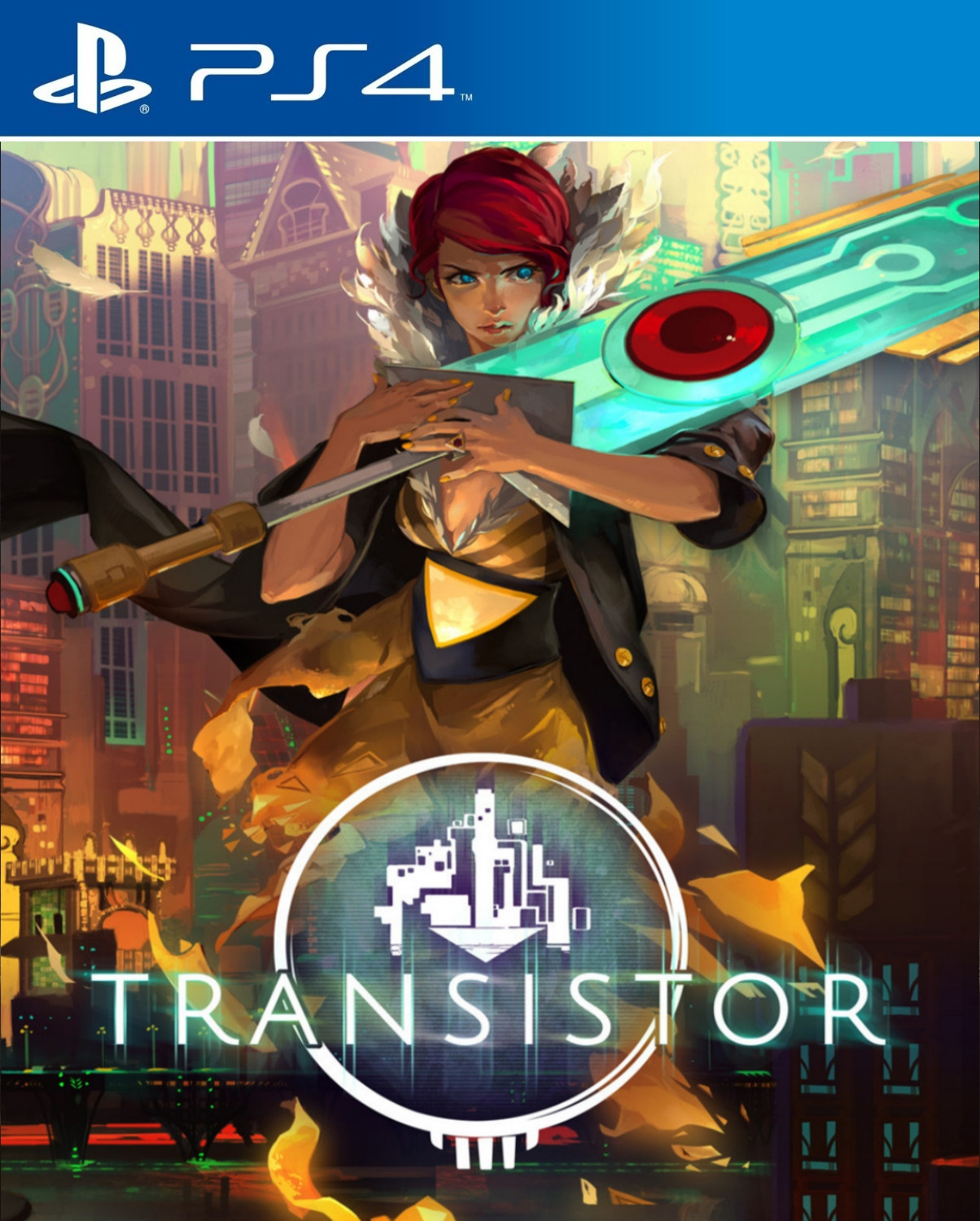 This custom Transistor art is absolutely gorgeous