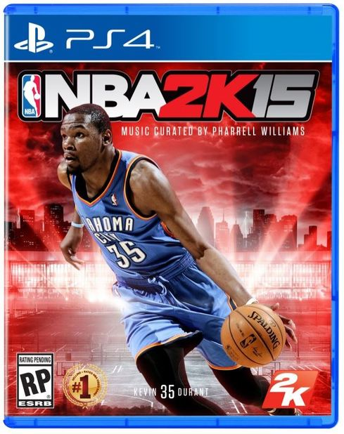 nba 2k15 ps4 cover kevin durant