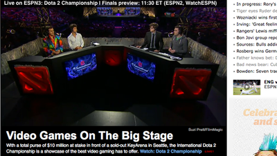 Dota 2 Screenshot - Don't be surprised that ESPN 2 aired Dota 2 coverage