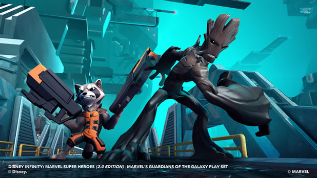 disney infinity: marvel super heroes 2.0 edition, guardians of the galaxy play set - groot and rocket raccoon