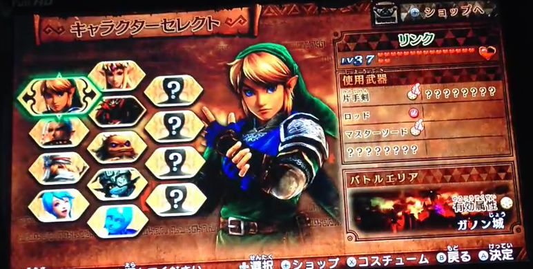 Hyrule Warriors game roster