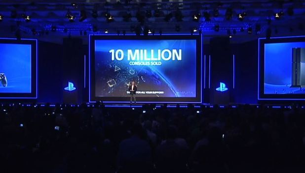 10 million PS4s globally