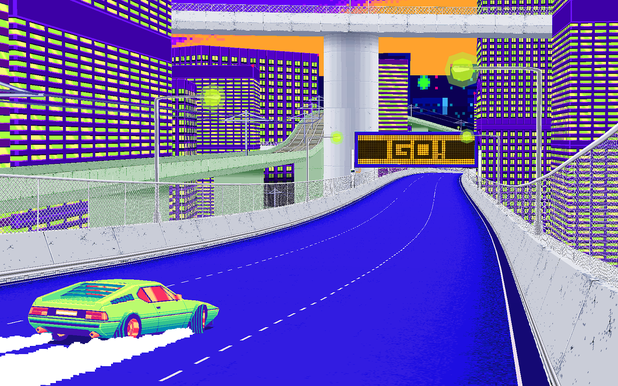 Drift Stage is the best racer from the 1980s made for PC and MAC