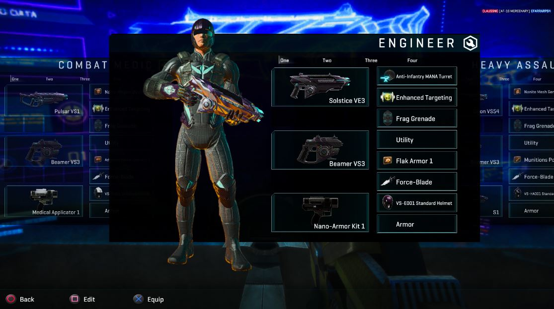 planetside 2 ps4 loadouts