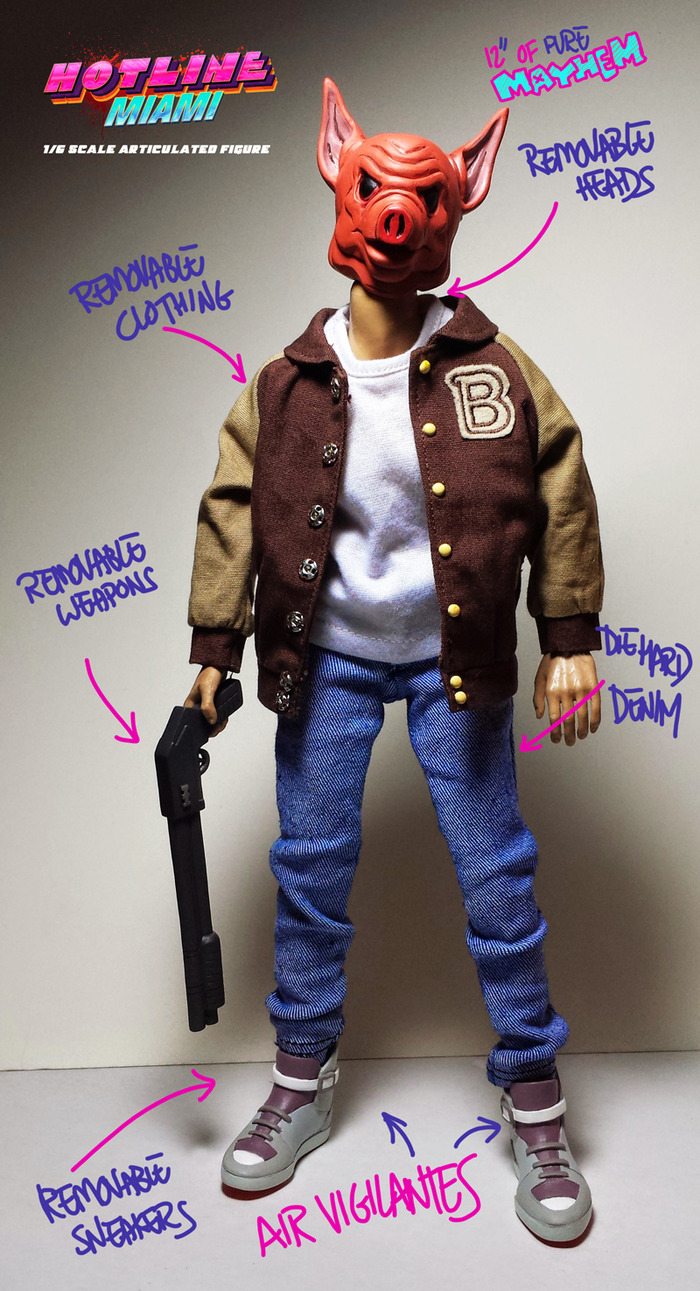 This Hotline Miami figurine has already been Kickstarted because it's totally bad ass.