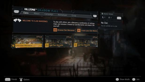 Killzone: Shadow Fall Screenshot - Killzone: Shadow Fall clan support