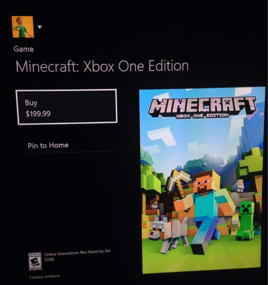 microsoft mistakenly prices minecraft xbox one edition at. Black Bedroom Furniture Sets. Home Design Ideas