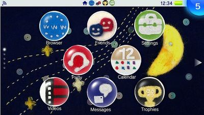ps vita homescreen