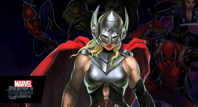 Marvel Puzzle Quest Screenshot - thor goddess of thunder marvel puzzle quest