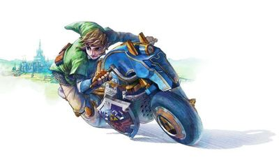 Mario Kart 8 Screenshot - link master cycle mario kart 8