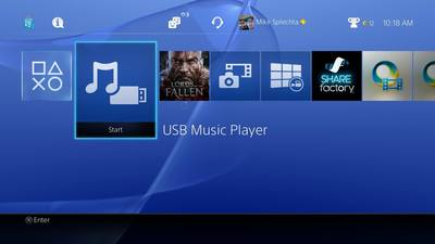 PlayStation 4 (console) Screenshot - USB Music Player