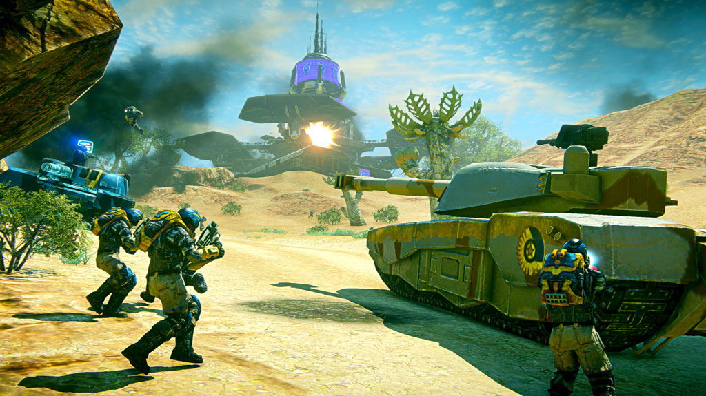 First look at Planetside 2 running on the PlayStation 4