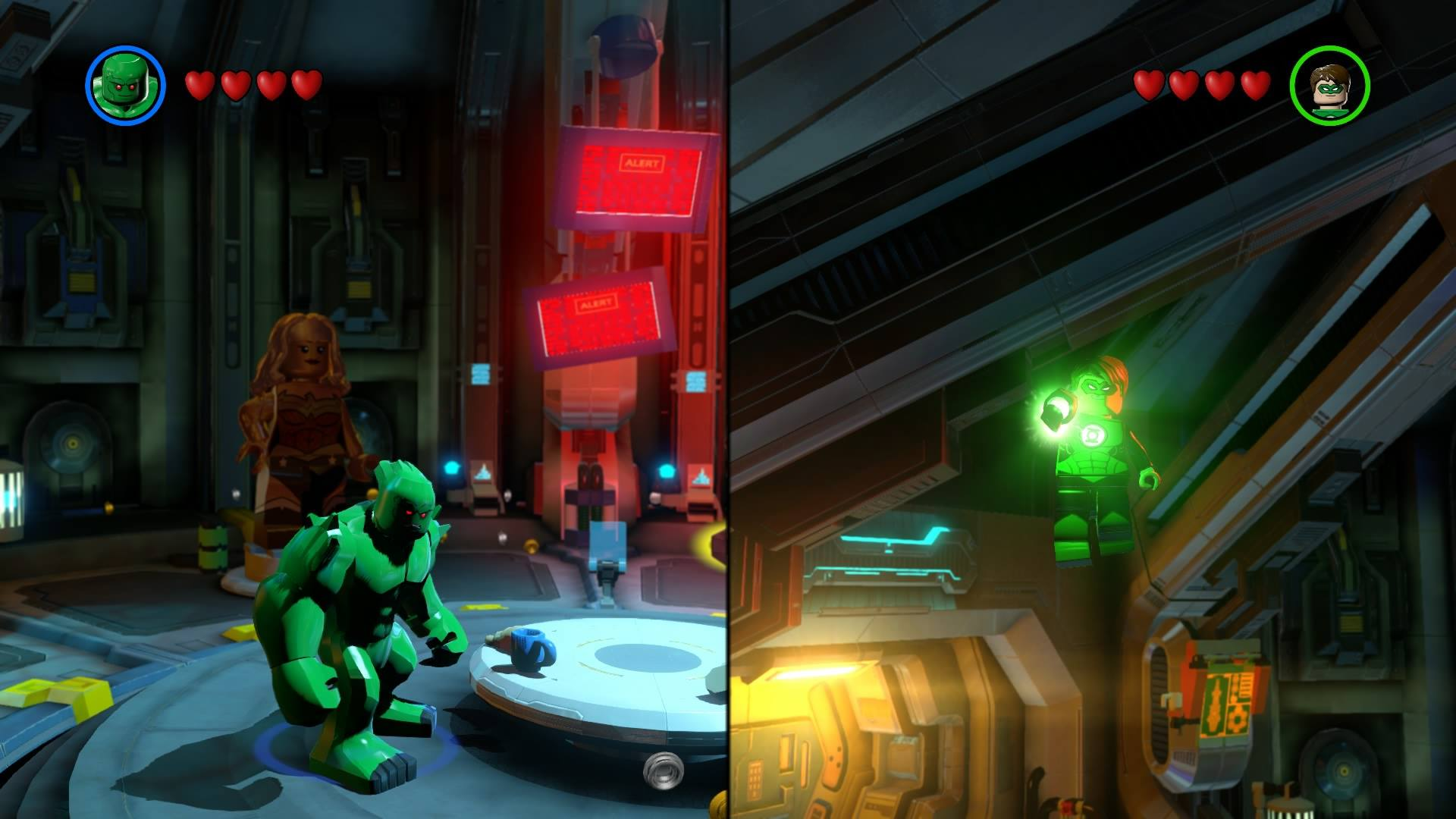 lego batman 3 beyond gotham green lantern split screen ps4