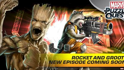 Marvel Puzzle Quest Screenshot - marvel puzzle quest rocket and groot