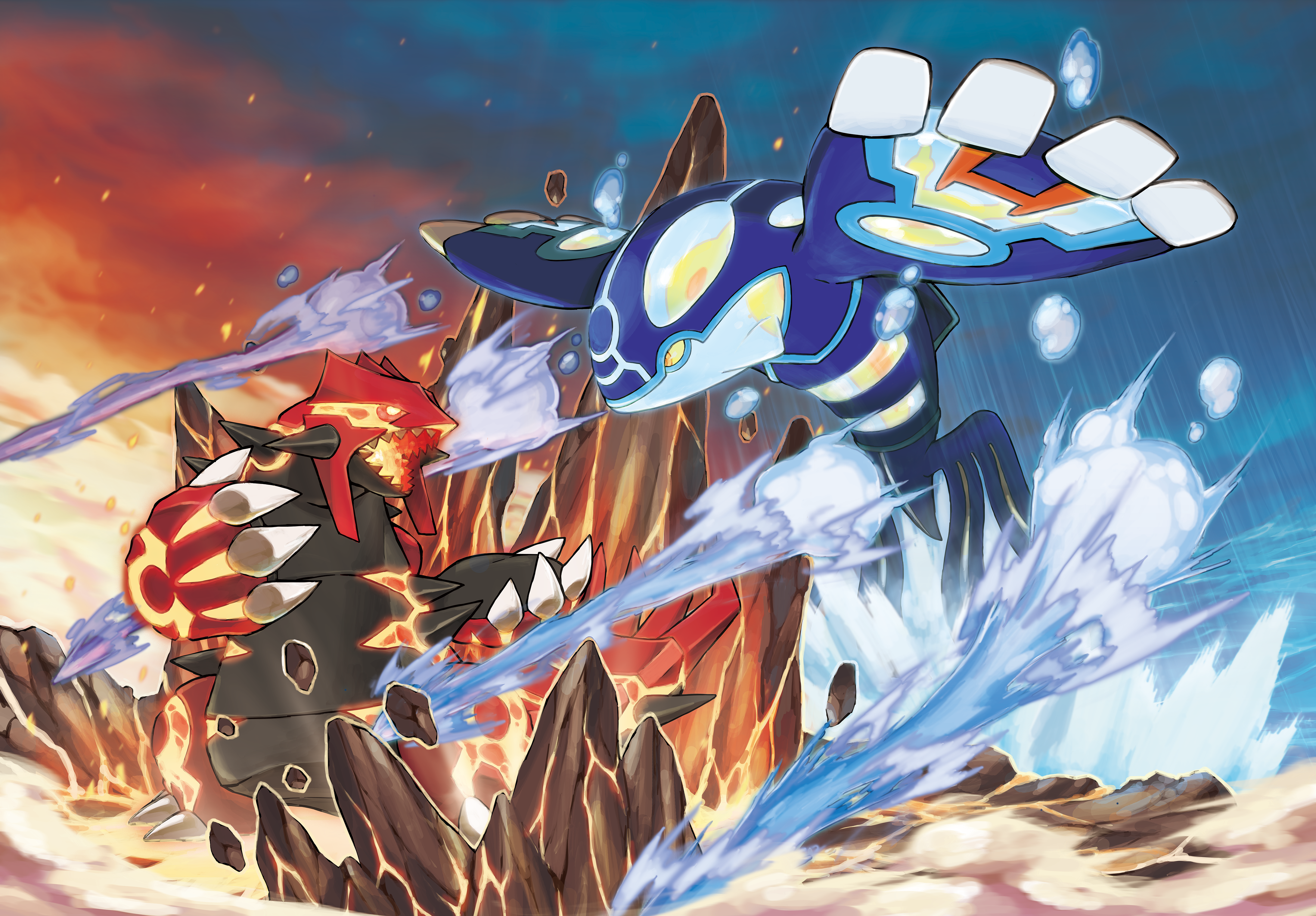 Primal Kyogre Vs Primal Groudon pokémon omega ruby and alpha sapphire cheats: how to get primal