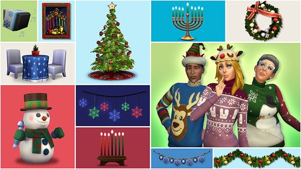 The Sims 4 Holiday Celebration Pack available for free